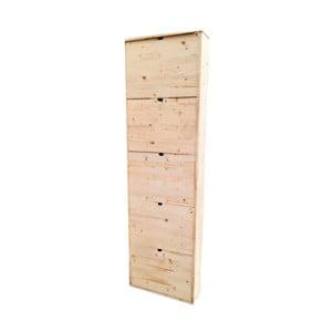 Dřevěný botník z borovicového dřeva s 5 dvířky Valdomo
