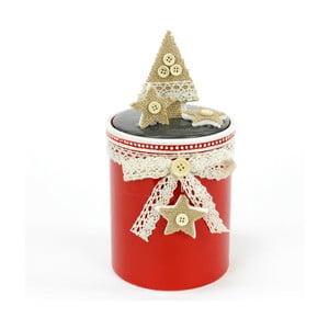 Keramický box s vánočním motivem Unimasa Tree, výška21cm