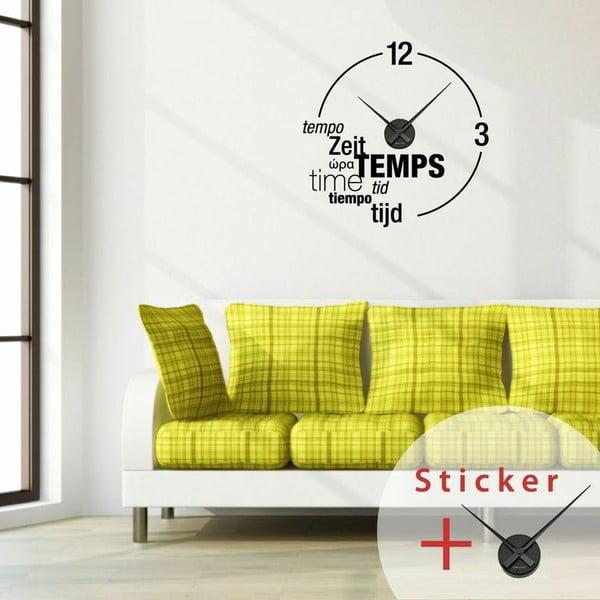 Samolepka Clock Wall, 55x55 cm