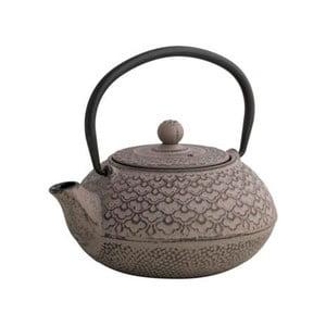 Hnědá čajová konvice se sítkem Brandani Cast,600ml