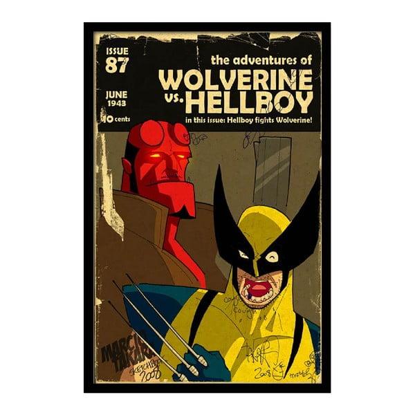 Plakát Wolverine, 35x30 cm