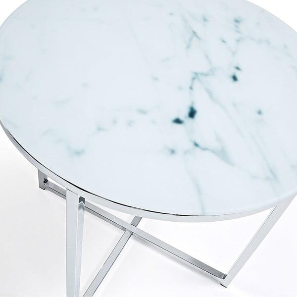Odkládací stolek s deskou v dekoru mramoru La Forma Vivid