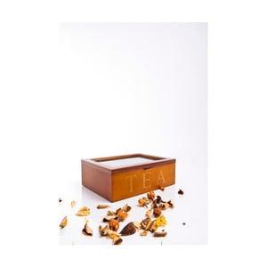 Dřevěná krabička na čaje Tea, 6 přihrádek