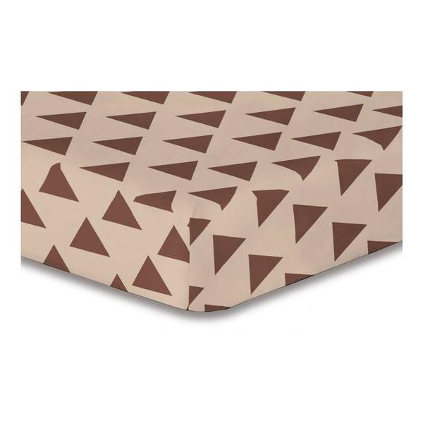 Prostěradlo z mikrovlákna DecoKing Hypnosis Triangles Alma, 180x200cm
