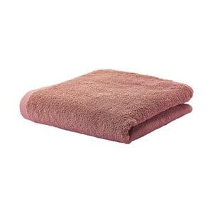 Karamelově hnědý ručník z egyptské bavlny Aquanova London, 55x100cm