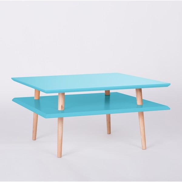 Tmavě tyrkysový konferenční stolek Ragaba Square, 68x68cm