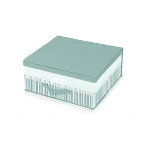 Zeleno-bílý úložný box pod postel Cosatto Bright, 45 x 45 cm