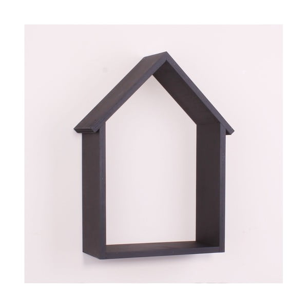 Raft de perete din lemn North Carolina Scandinavian Home Decors House, negru