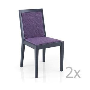 Sada 2 fialových židlí Garageeight Arstadal