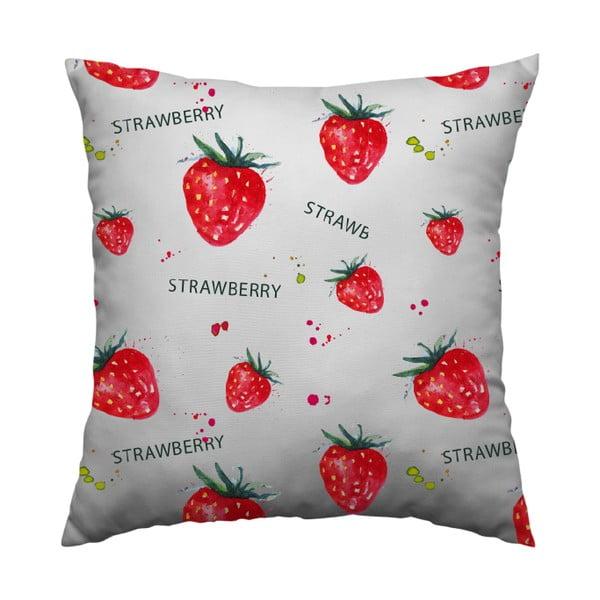 Polštář Strawberry, 40x40 cm