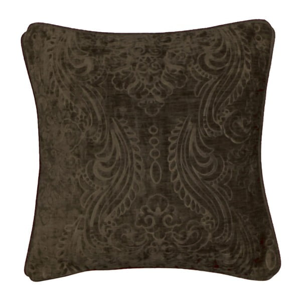 Tmavě hnědošedý povlak na polštář Kate Louise Exclusive Ranejo, 45 x 45 cm
