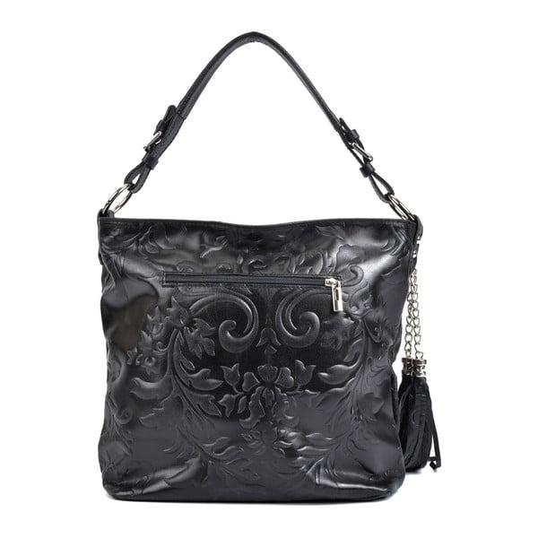 Černá kožená kabelka Isabella Rhea Hana