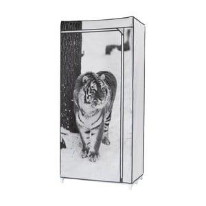 Textilní šatní skříň Compactor Tiger, výška160cm