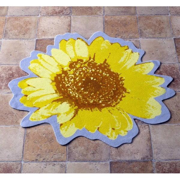 Koberec Special - žlutá květina, 100 cm