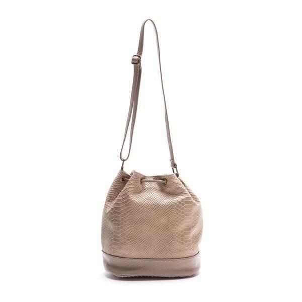 Kožená kabelka Luisa Vannini 8027 Fango