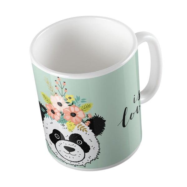 Hrnek Butter Kings Panda With Flowers