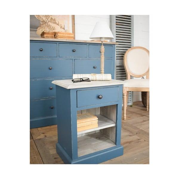 Světle modrý odkládací stolek zborovicového dřeva Orchidea Milano Portofino