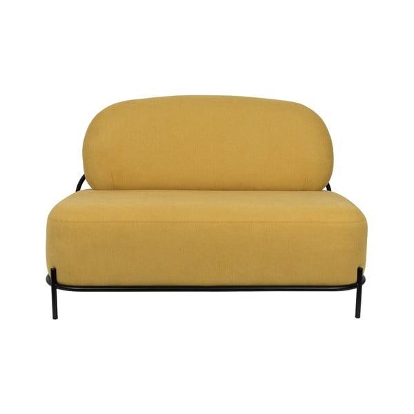 Žlutá dvoumístná pohovka White Label Polly