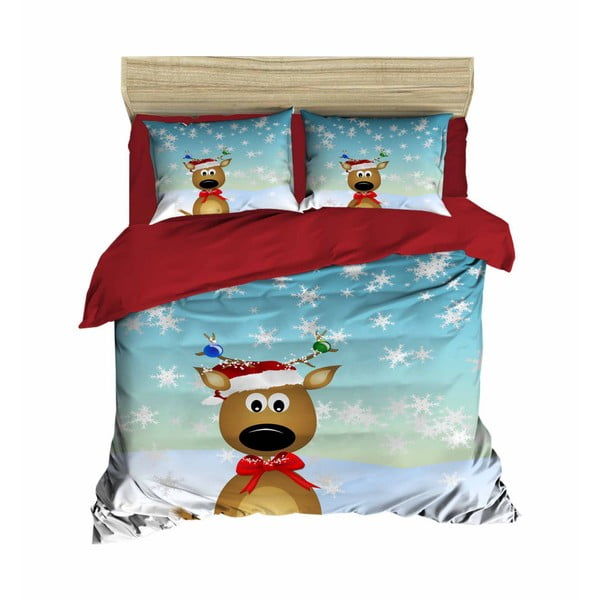 Victor karácsonyi, kétszemélyes ágyneműhuzat lepedővel, 200 x 220 cm