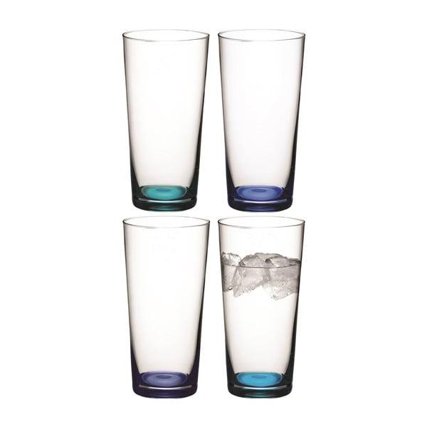 Coro Blue, vysoká sklenice, sada 4 ks