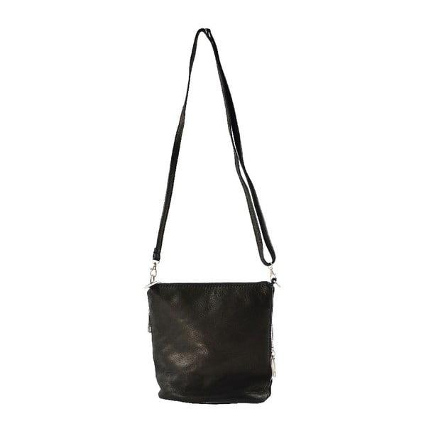Kožená taška přes rameno Jeunnie, černá
