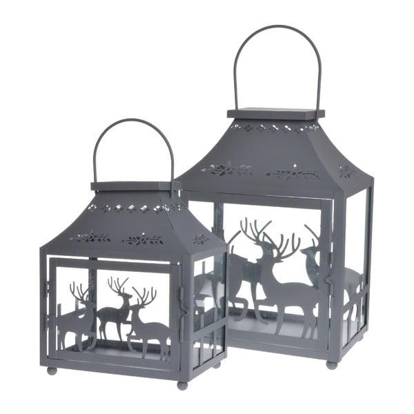 Set 2 luceren Reindeers Grey