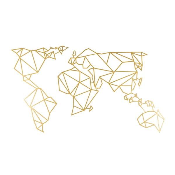 Nástěnná kovová dekorace ve zlaté barvě Wall Decor World, 60 x 120 cm