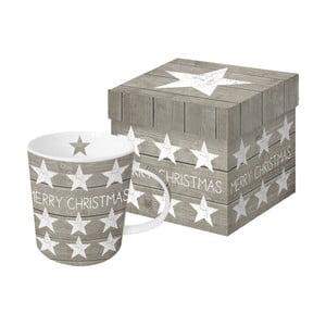 Hrnek z kostního porcelánu s vánočním motivem v dárkovém balení PPD Merry Christmas Stars, 350 ml