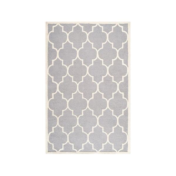 Vlněný koberec Everly 182x274 cm, světle šedý