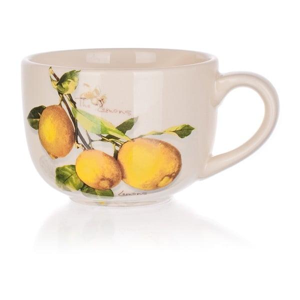 Keramický šálek Banquet Lemon, 300ml