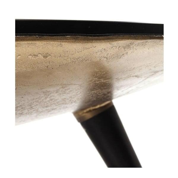 Konferenční stolek ze skla a kovu Kare Design, Ø 90 cm