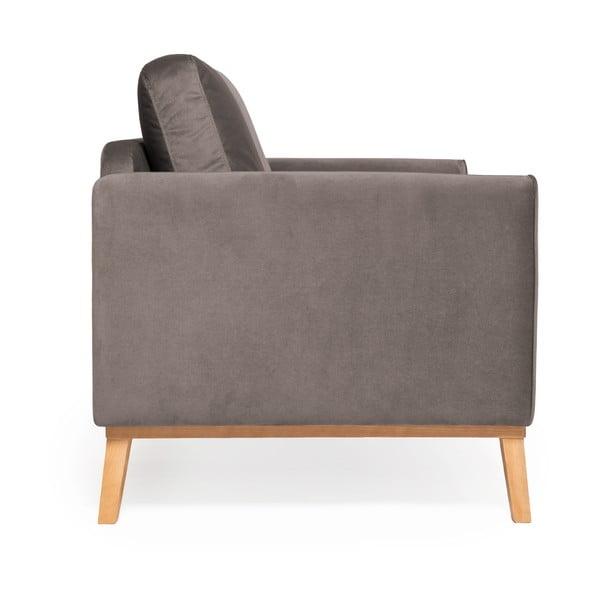 Šedá 3místná sedačka Vivonita Milton Trend