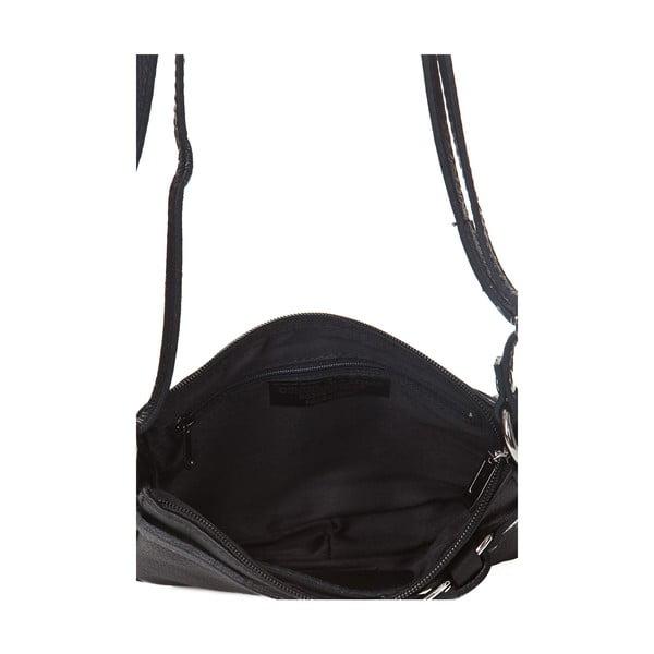 Černá kožená kabelka Markese Vita