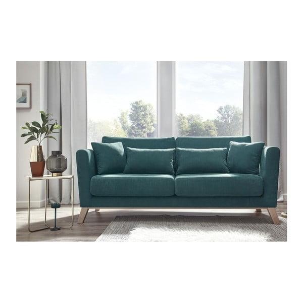 Niebieska sofa 3-osobowa Bobochic Paris Doblo