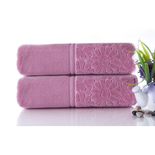 Set dvou ručníků Samba Powder, 50x90 cm