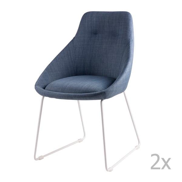 Sada 2 světle modrých jídelních židlí sømcasa Alba