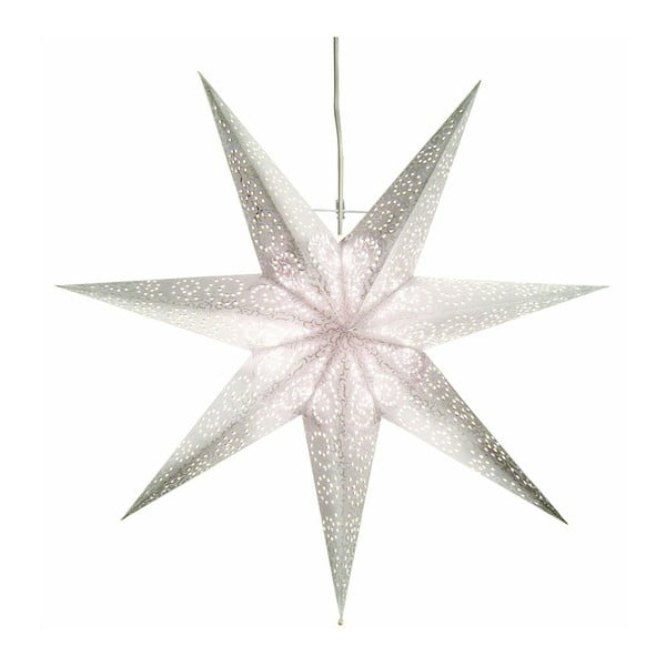 Závěsná svítící hvězda Antique Snow, 80 cm