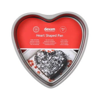 Formă prăjitură cu suprafață antiaderentă Dexam Heart, ø 20 cm