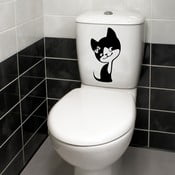 Autocolant decorativ pentru WC Kitty