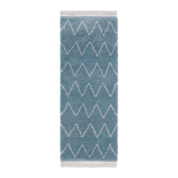 Modrý behúň Mint Rugs Rotonno, 80 x 200 cm