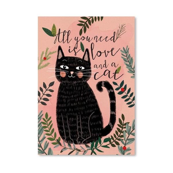 Plakát od Mia Charro - All You Need Cat