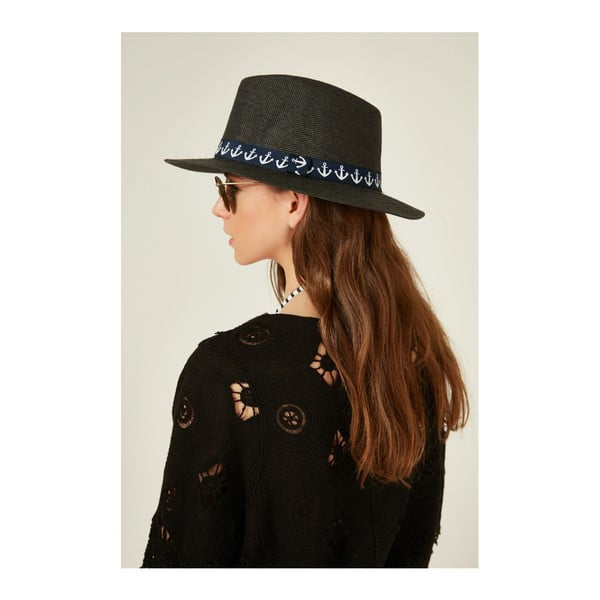 Čierny dámsky slamený klobouk Alexander McKensey Capa
