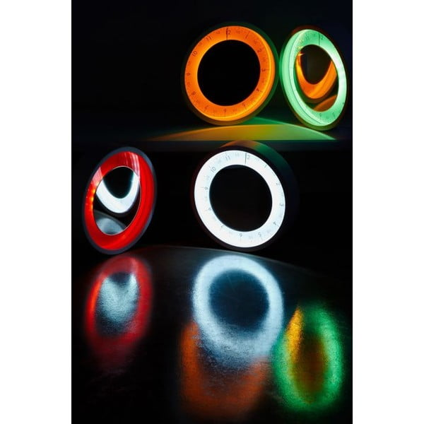 Designové hodiny se zrcadlem Solo Ora 50 cm, oranžové