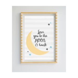Obraz z limitované edice Little Nice Things Moon, 50 x 70 cm