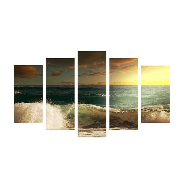 5dílný obraz Sea Wave, 60x100 cm