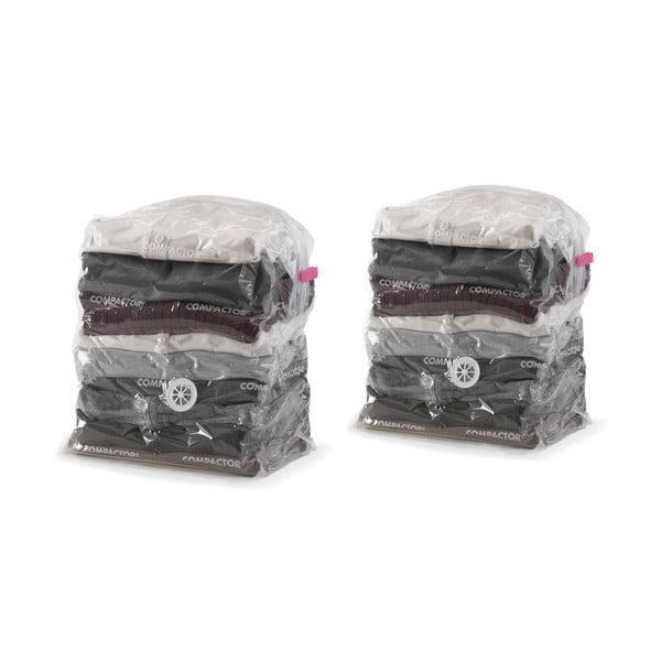 Set 2 saci cu vid pentru haine Compactor Compact Express, 20 x 30 x 50 cm