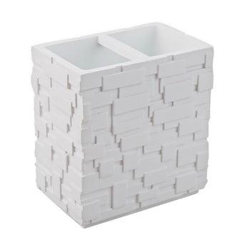 Pahar pentru periuțe de dinți Tomasucci Wall, alb de la Tomasucci