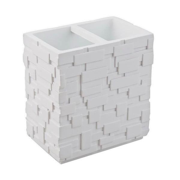Biely pohárik na zubné kefky Tomasucci Wall