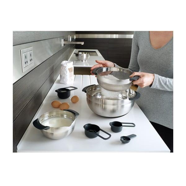 Set cu 9 oale de bucătărie din oțel inoxidabil Nest