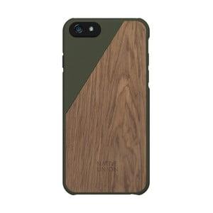 Husă pentru iPhone 6 și 6S Plus Native Union Clic Wooden, verde închis - detalii din lemn